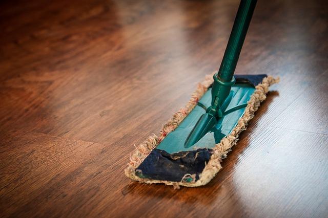 bezichtiging huis schoonmaken dweil