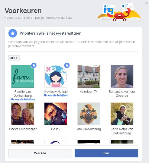 facebook voorkeur aangeven wie je als eerste wilt zien