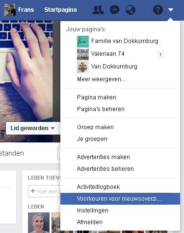 facebook voorkeuren voor nieuwsoverzicht