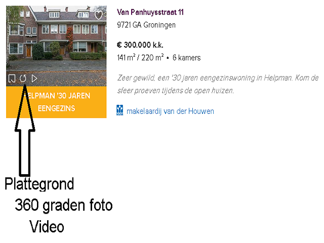 funda zichtbaarheid vergroten voorbeeld huis gronigen afbeelding
