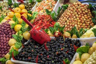 marokko markt bazaar groente kruid fruit