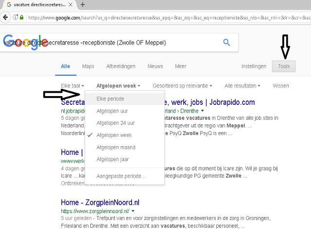 google zoekopdracht familie vacature directiesecretaresse-ingesteld