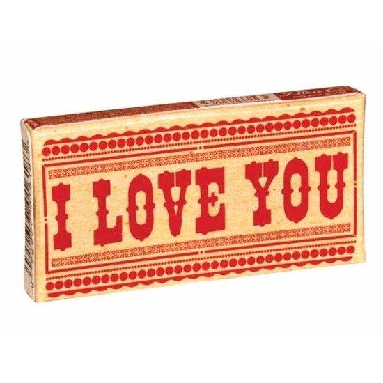 kauwgom eten i love you