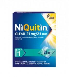 nicotinepleister stoppen met roken