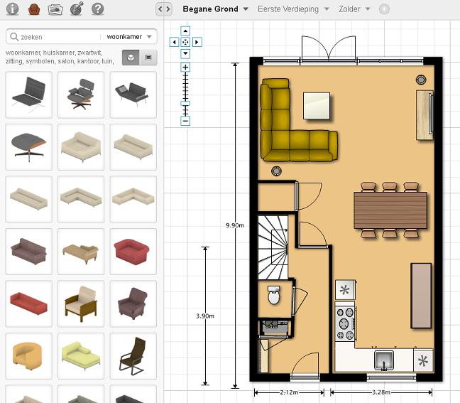 Hoe maak je zelf een plattegrond van het huis familie for 2d plattegrond maken